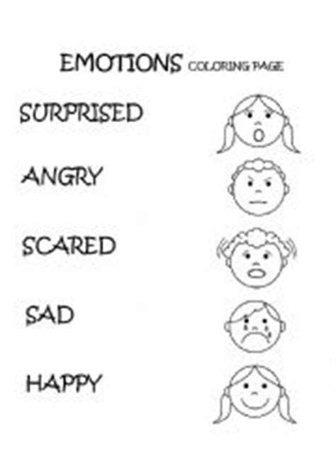 feelings coloring pages and activities pictures to pin on