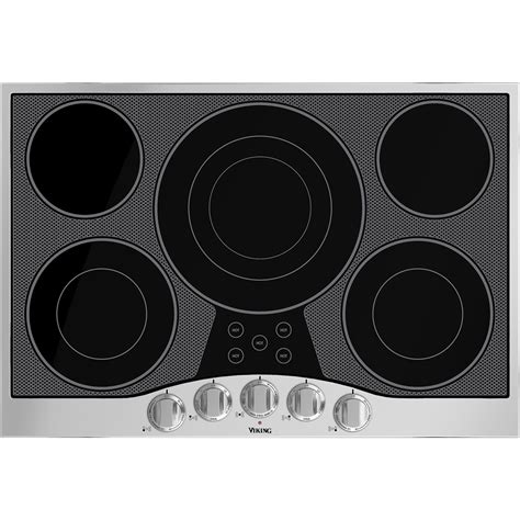 stainless steel cooktop electric viking 29 9 quot electric cooktop black stainless steel at