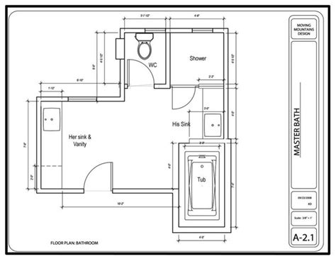 Bathroom Floor Plans Master Bathroom Design Project The Design