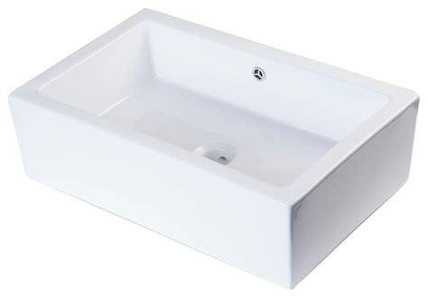 apron bathroom sink alfi white rectangular farmhouse apron front ceramic