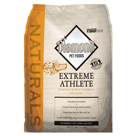 diamond hi energy adult dog food by diamond at mills fleet diamond naturals extreme athlete 40 lb dry dog food 999401