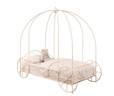 carriage twin bed powder pink carriage princess girl s twin canopy bed