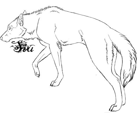 Outlines Of Wolves by The Gallery For Gt Anime Wolf Pup Outline