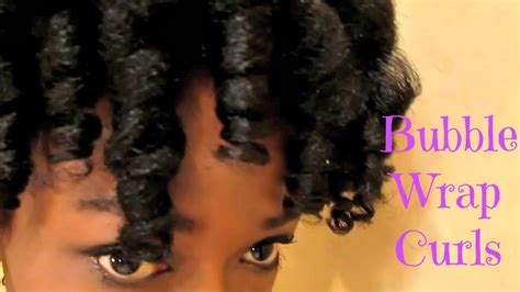 6 wrap hair styles no heat bubble wrap curls in 4b c natural hair youtube