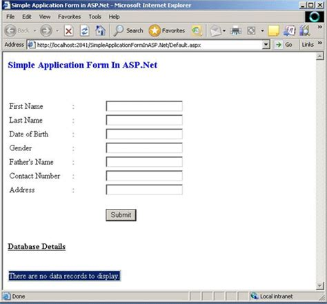 design application form using html simple application form in asp net