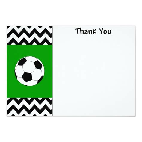 soccer thank you note cards zazzle