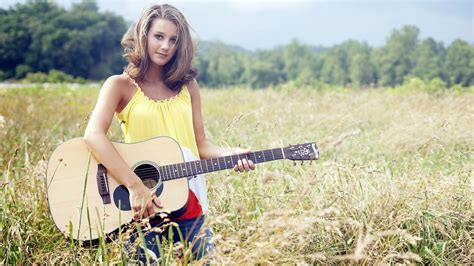wallpaper girl with guitar fashion girl with guitar wallpapers 1600x900 590970
