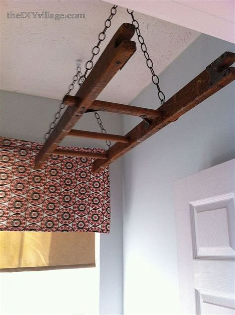 Decorative Laundry Hers Laundry Room Ladder Drying Rack Neat Idea Instead Of