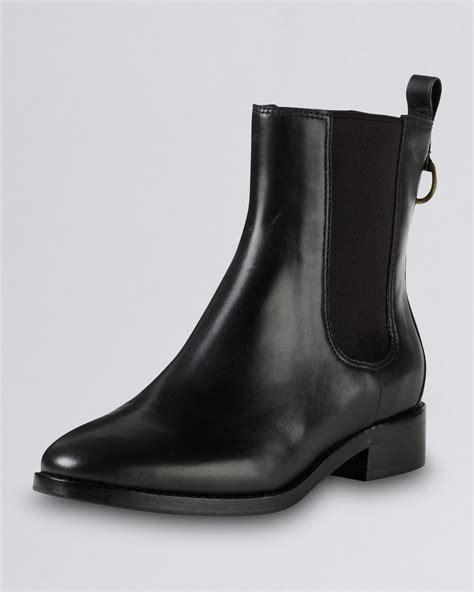 cole haan evan air waterproof leather boot black in