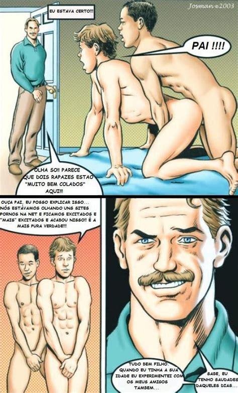 pegou o filho no flagra gay cartoon hq de sexo
