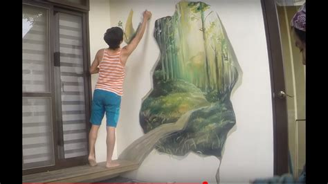 how to paint a wall mural in a bedroom mural wall painting by picabbo 3d magic woods 許漢柏