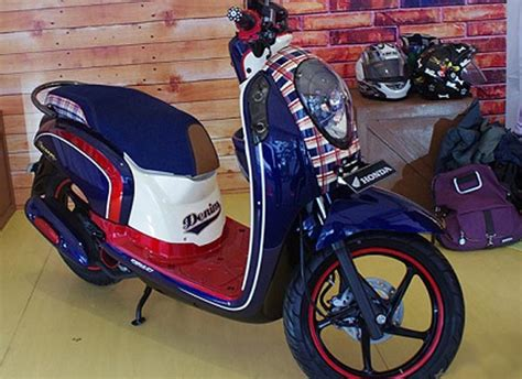 Karpet Scoopy Fi honda scoopy fi denim edition fashion retro