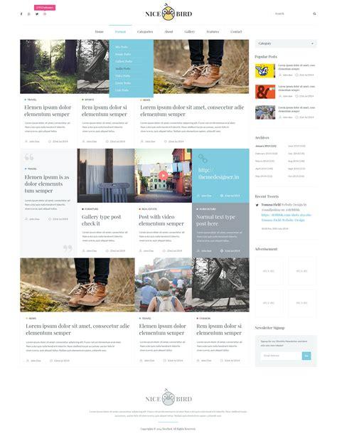 newspaper theme psd nice bird blog and newspaper psd theme by suniljoshi