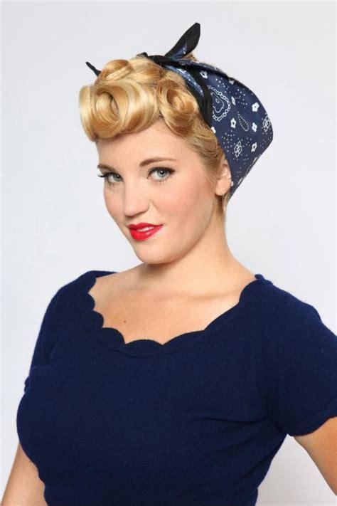 1940s bandana hairstyles pinup hair bandana rockabilly pin up hair and makeup