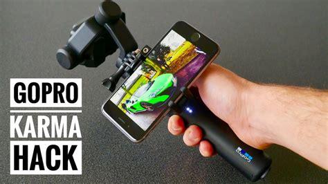 gopro karma hack   easily mount  phone   grip youtube