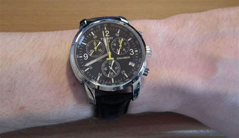Tissot Sport Yellow Black Leather prc200 images photos and pictures