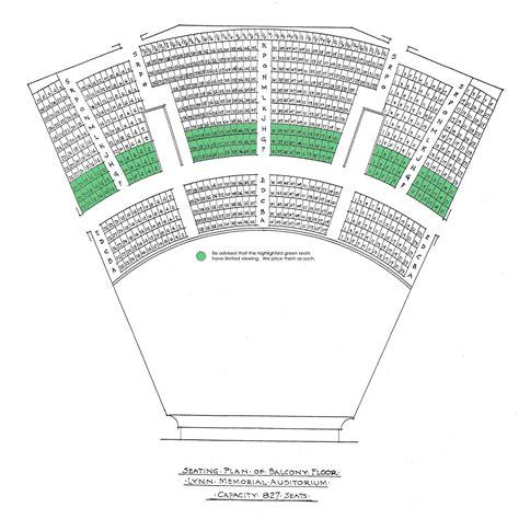 auditorium seating section lynn auditorium seating
