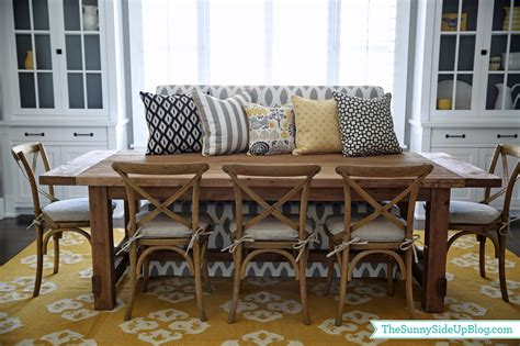 Pillows For Dining Room Chairs by Dining Room Decor Update Bench Chairs Pillows The
