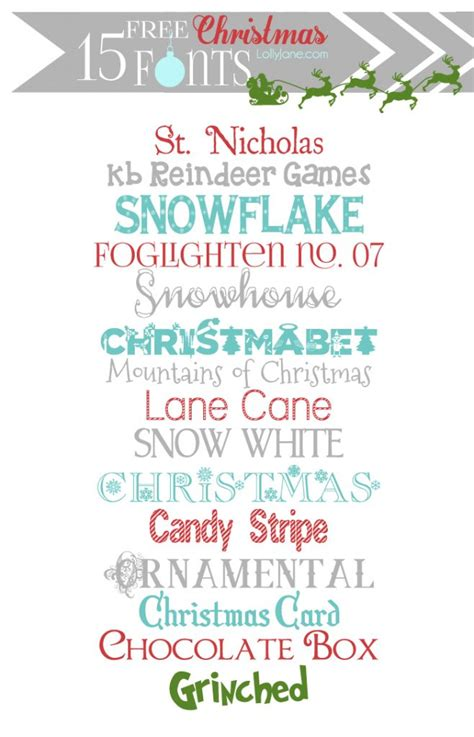 free christmas fonts dingbat graphics lolly jane