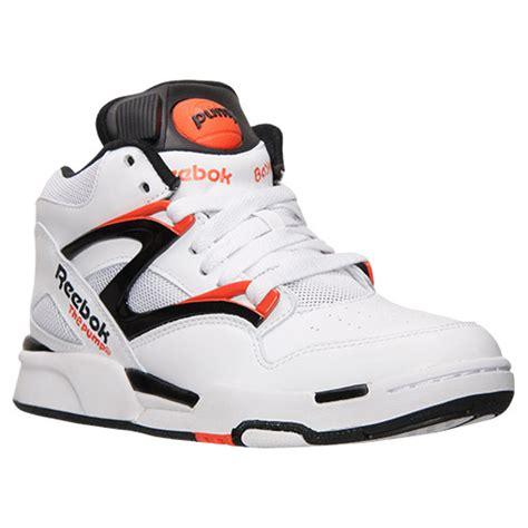 basketball pumps shoes reebok omni light white orange 70 sneaker deal