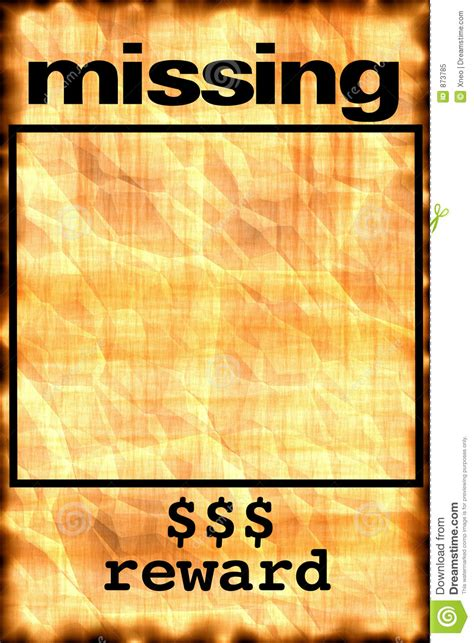 missing poster clipart