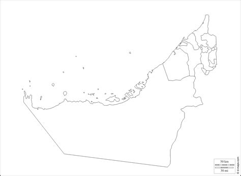 uae political map geography united arab emirates outline maps