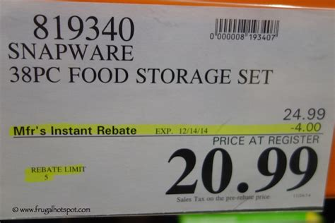 Costco Sale: Snapware 38 Piece Plastic Food Storage Set   Frugal Hotspot