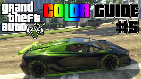 gta v ultimate color guide 5 best colors combos for zentorno