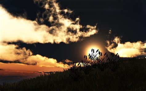 grass hills sunset hd desktop wallpaper instagram photo