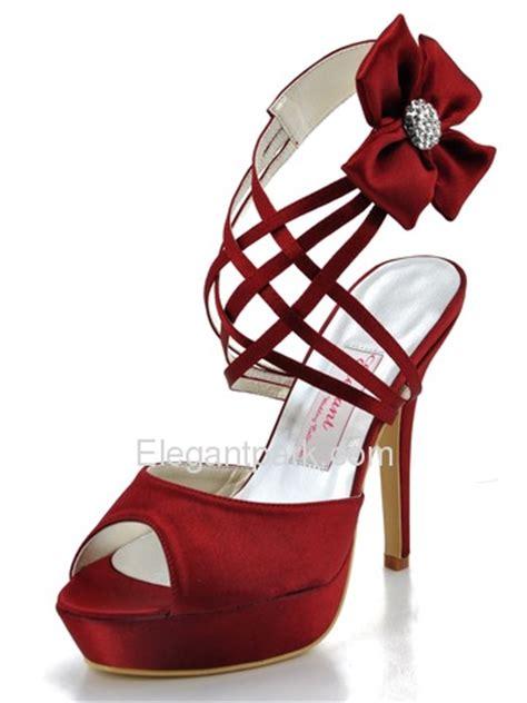 burgundy wedding heels step into a pair of burgundy peep toe bridal heels