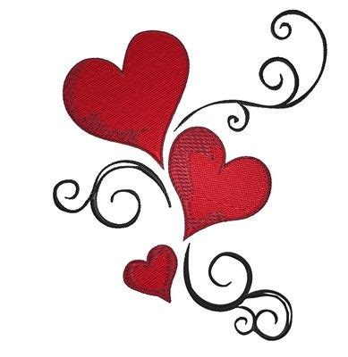 three heart tattoo designs swirl embroidery design things