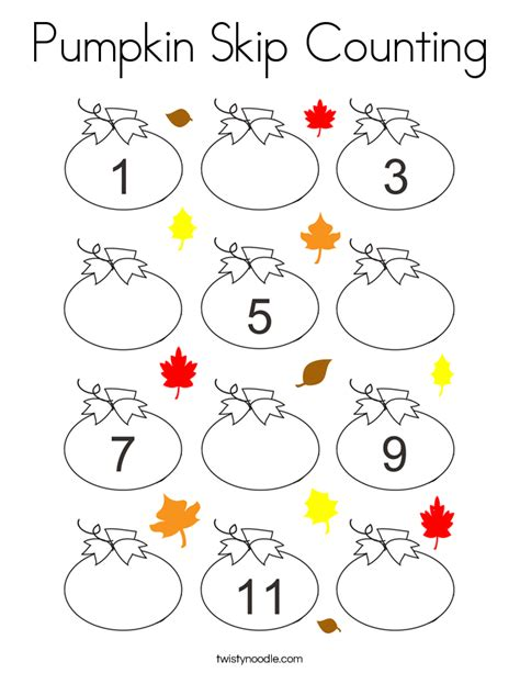 pumpkin counting coloring pages pumpkin skip counting coloring page twisty noodle