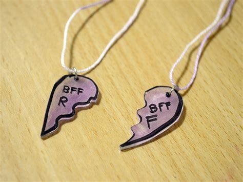how to make a necklace out of how to make a quot best friend forever quot necklace with shrinky