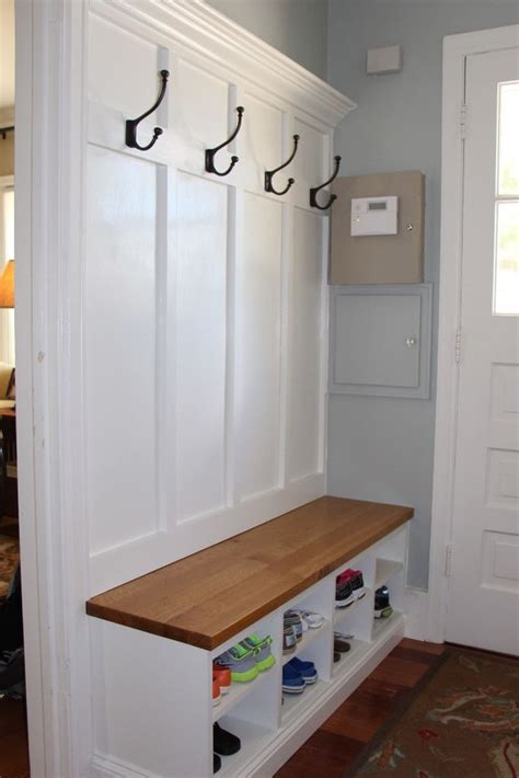 mudroom bench with hooks 25 best ideas about coat closet organization on pinterest