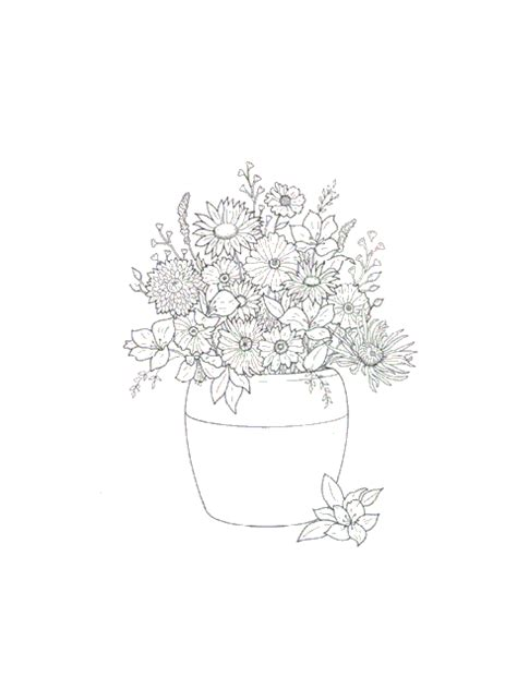 Flower Bouquet Coloring Pages Coloringpages1001 Com Flower Bouquet Coloring Pages
