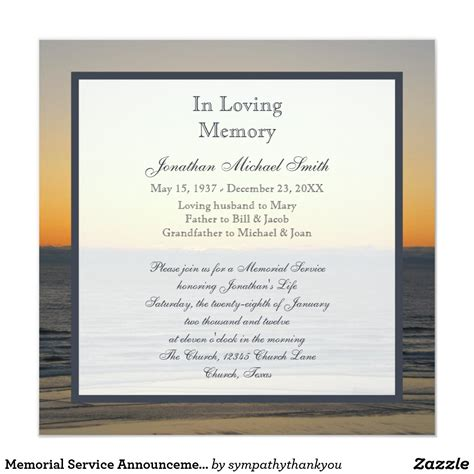 invitation to a memorial service myideasbedroom com