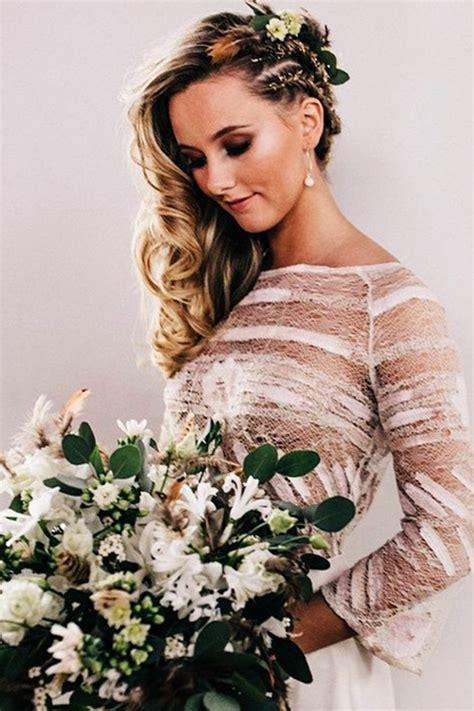 captivating wedding hairstyle  medium lenght hair