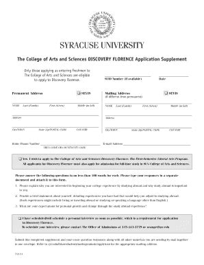 Syracuse Acceptance Letter Syracuse Application Fill Printable Fillable Blank Pdffiller
