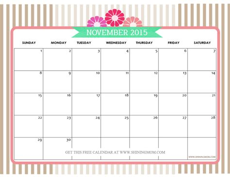 printable monthly planner november 2015 feel free to download november 2015 calendar print and
