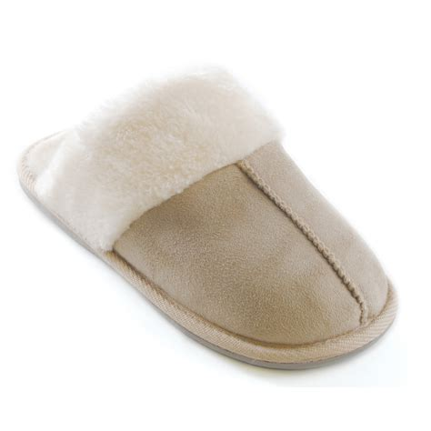 Fleece Slip Ons womens classic indoor house fleece slip ons