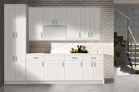 white shaker kitchen cabinets flat panel vs shaker style cabinets in stock kitchens
