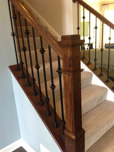 staircase banisters ideas iron stair railing with knuckles google search
