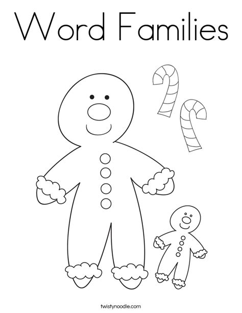 word family coloring page word families coloring page twisty noodle