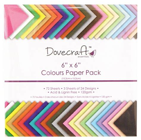 Craft Paper Pads - dovecraft colour value pads paper pad 6x6 trdcdp61