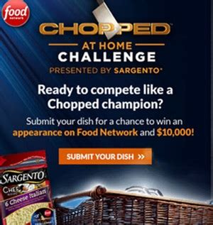 sargento teams with food network on chopped at home