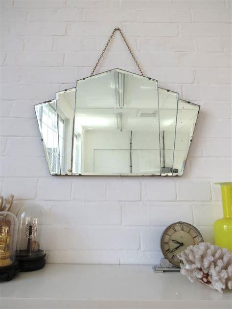 art deco fan wall mirror vintage art deco fan shape wall mirror bevelled edge ebay