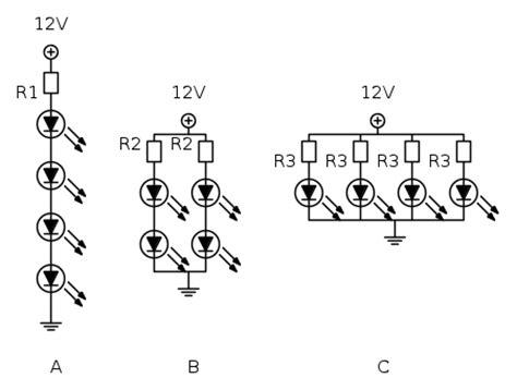 tensione alimentazione led stringhe di led i alimentazione con resistori electroyou