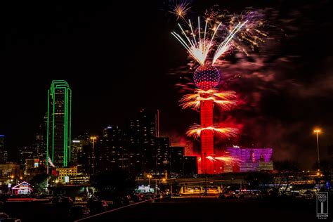 new year celebration dallas at t lights at reunion tower reunion tower