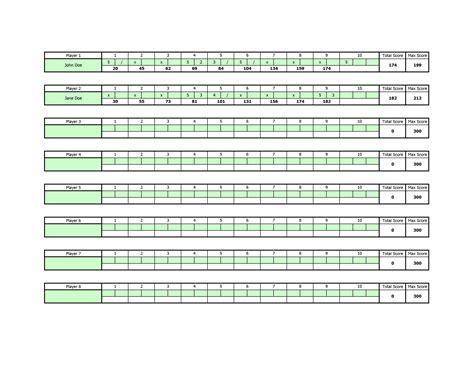 bowling score sheet template bowling score sheet images