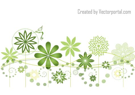 abstract floral garden background design free
